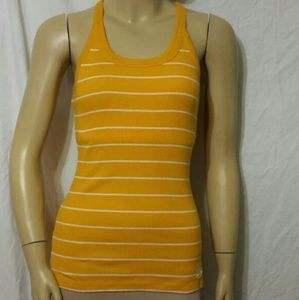 Nike Yellow- Striped Top with Built-in Support